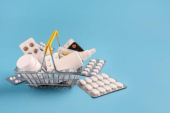 картинка - корзина с лекарствами
